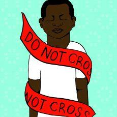 Do Not Cross (August 2014) Digital Print