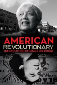 American Revolutionary cover presenting two images of Grace Lee Boggs both when young and aged.