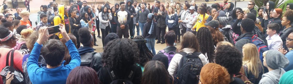 Students protesting at Mizzou.