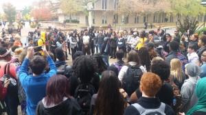Students protesting at Mizzou.