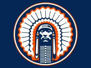 illustrated Chief Illiniwek as University of Illinois' mascot.