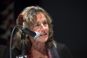 Bernadine Dorhn speaking in Madrid, Spain, 2014.