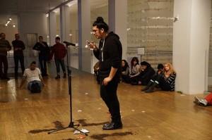 "Óscar Díaz, documentation of the performance ""Mal de Amores (Mercedes)"", (2015)"