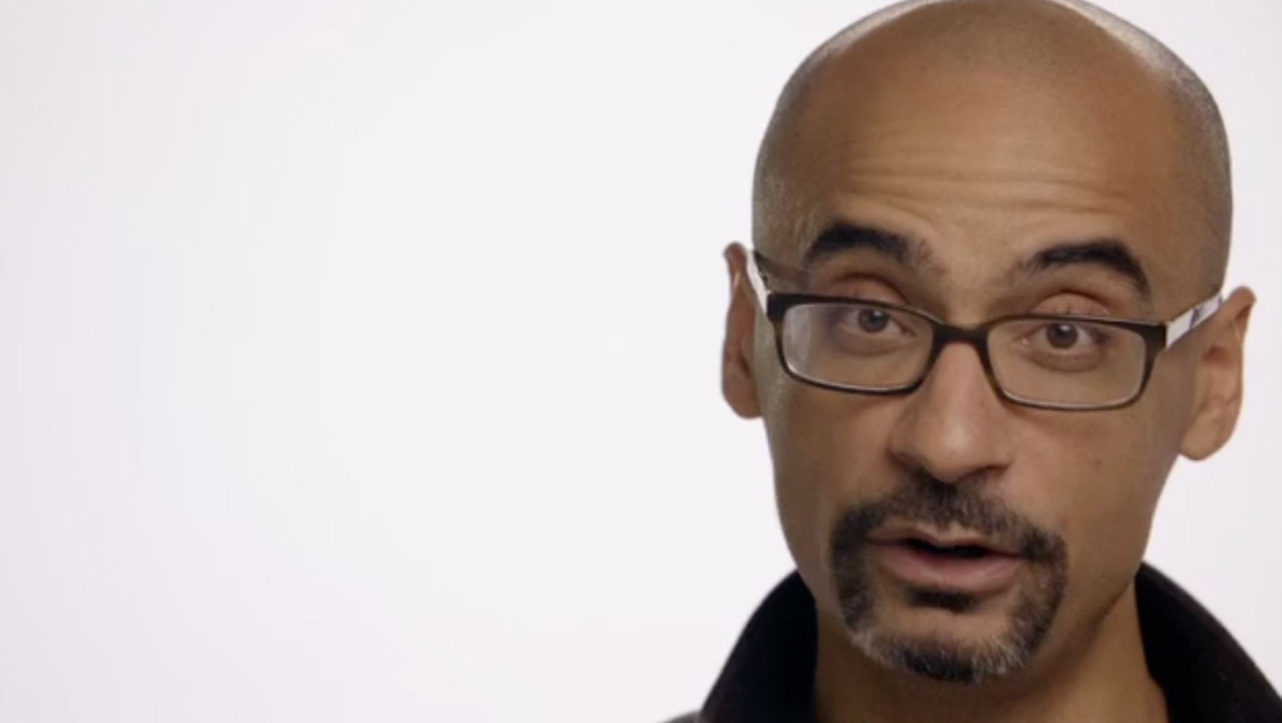 screenshot of Junot DIaz in Habla Men video