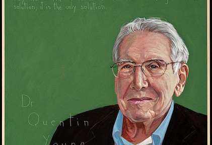 illustrated portrait of Quentin Young