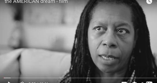 black woman being interviewed