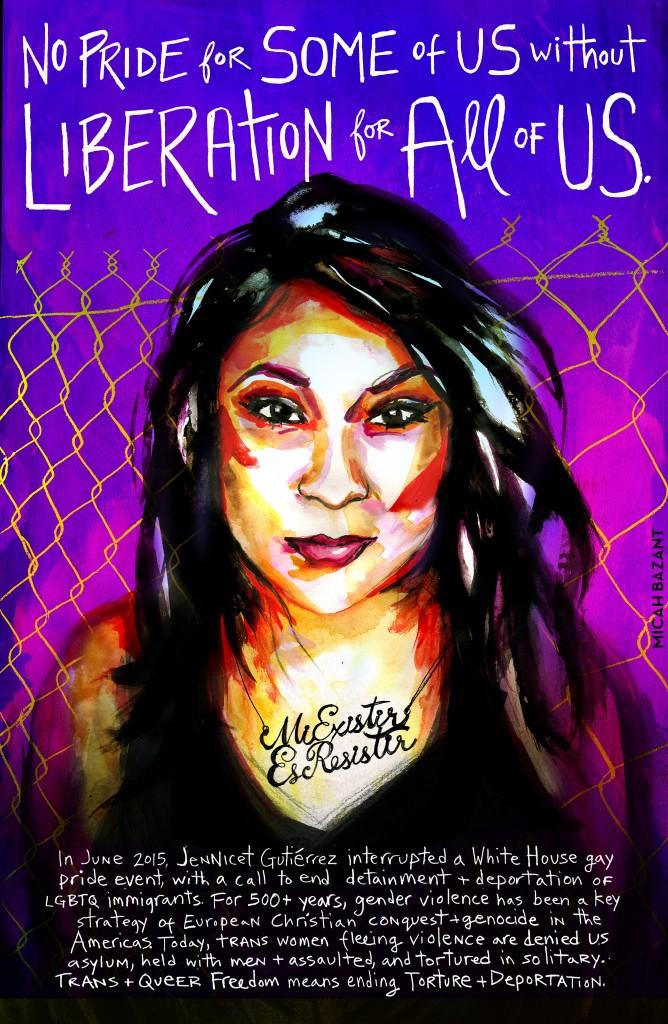 Multi-colored Pride Poster of Jennicet Eva Gutiérrez