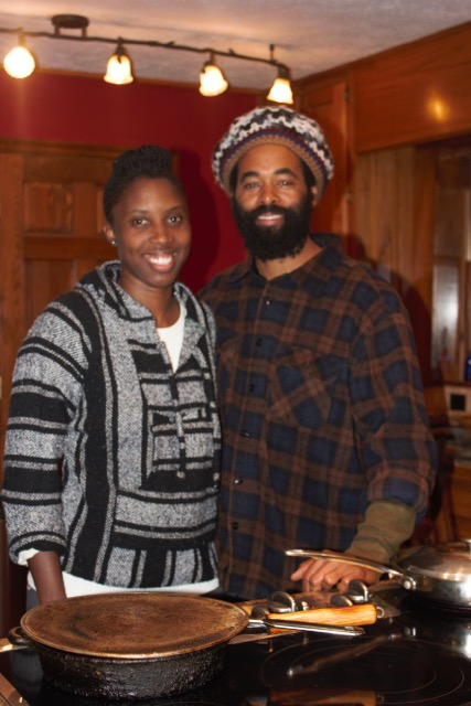 Eugene Cooke and JoVonna Johnson-Cooke standing in their kitchen