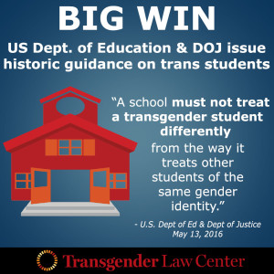 Federal Guidance On Students With >> Historic Federal Guidance On Transgender Students Praxis Center