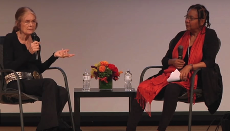 Gloria Steinem and bell hooks sitting together