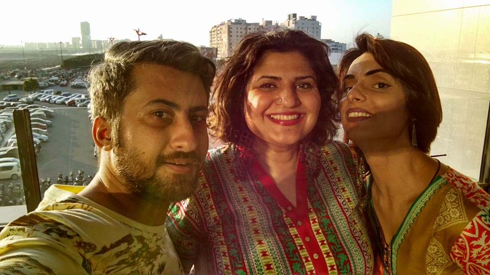 Urooj with renowned LGBT activist couple Kami and Mr. Sid
