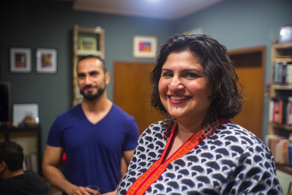 Urooj Arshad with LGBT activist Ali at a queer party