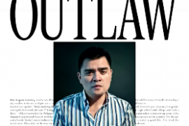 Jose Antonio Vargas edited into old styled outlaw poster