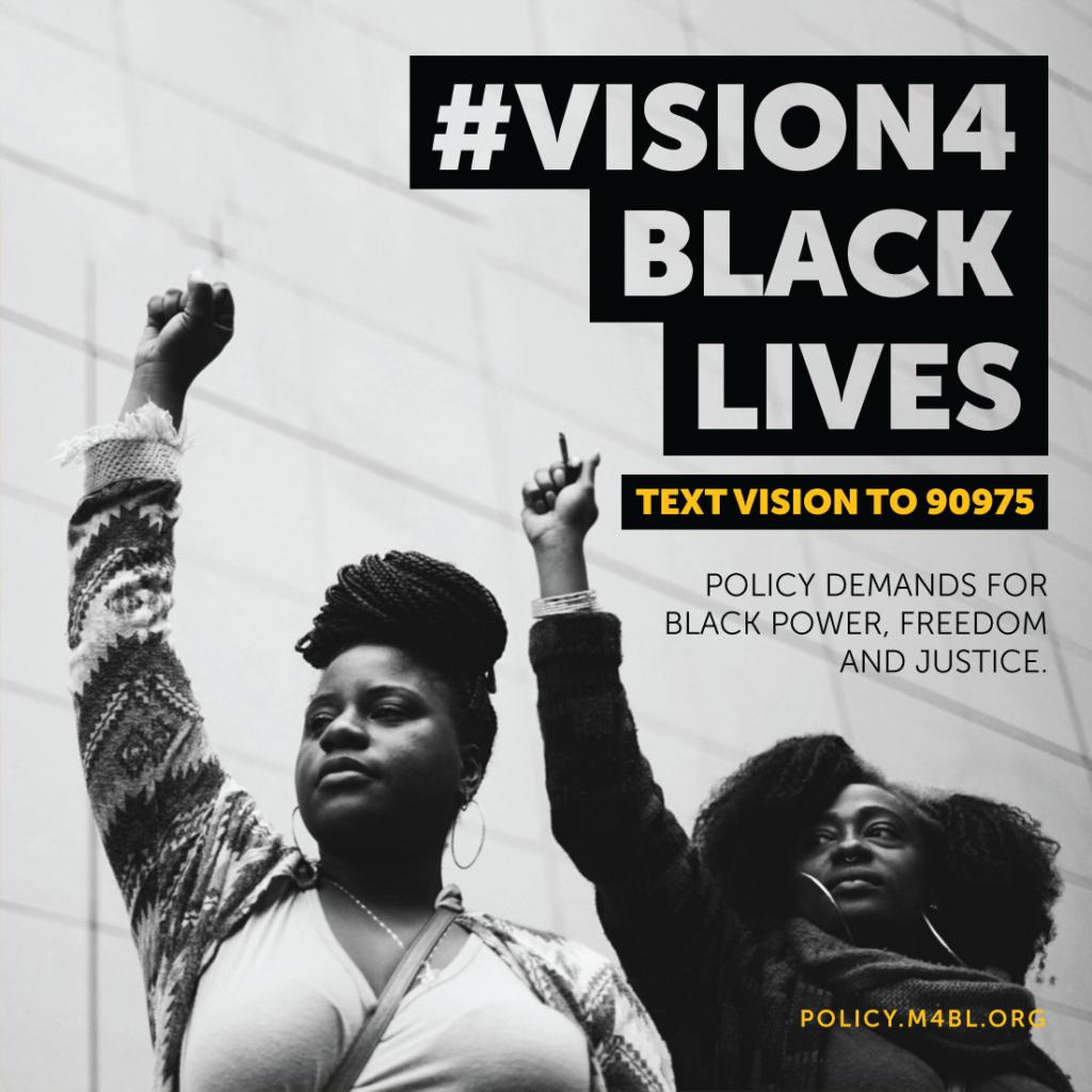 #Vision4 Black Lives poster