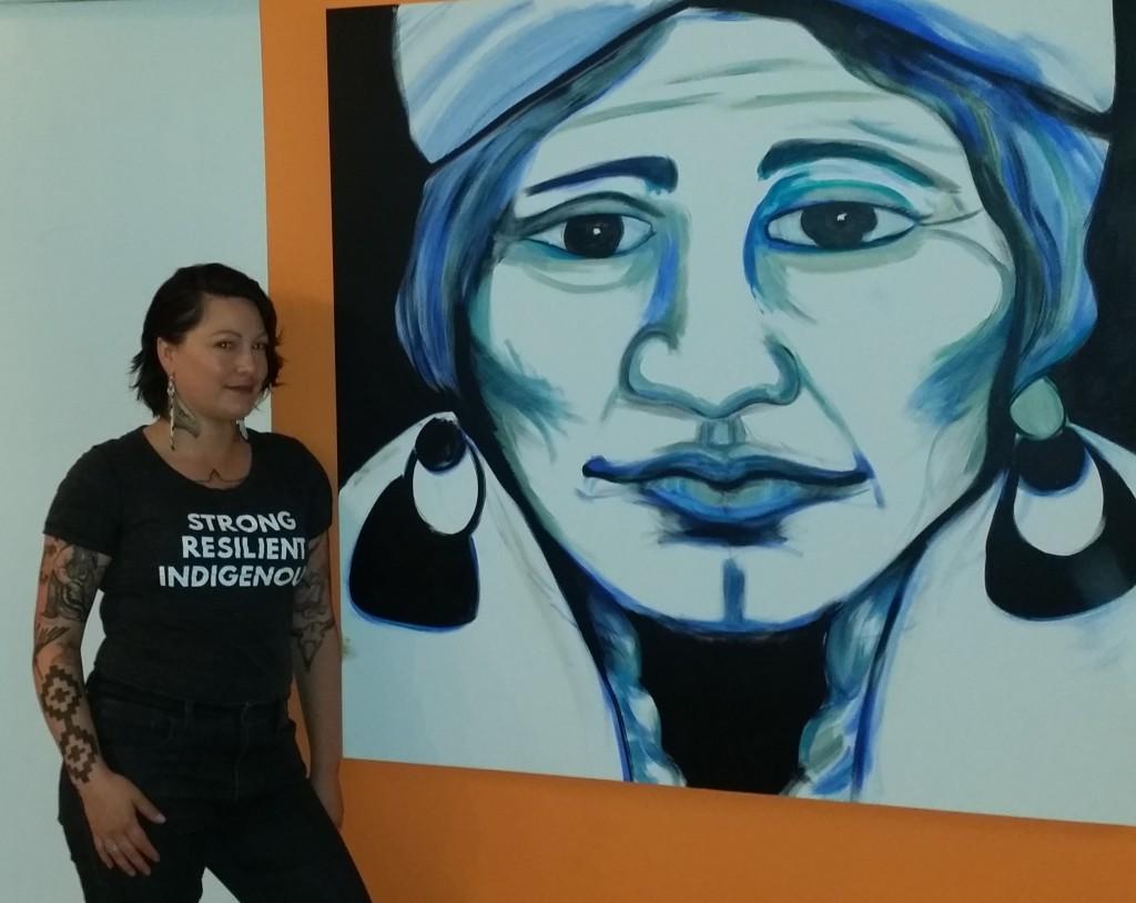 mujer muralista