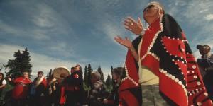 Tahltan First Nation Elder at Mount Klappan protests