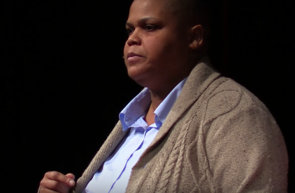 Keeanga-Yamahtta Taylor on stage for TEDxBaltimore