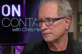 Bill Ayers' profile during an interview