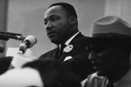 "Martin Luther King Junior During his ""I have a dream"" speech"
