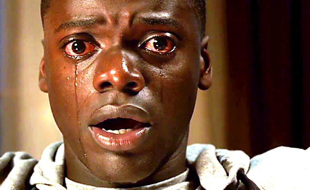 Daniel Kaluuya crying in screen grab from Get Out