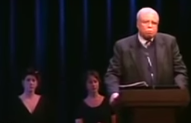 James Earl Jones at podium