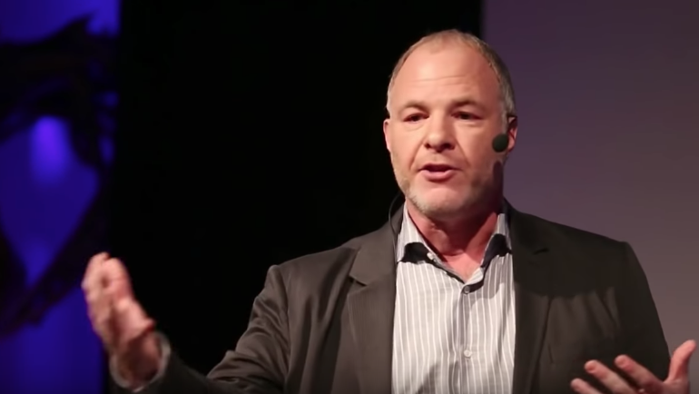Jackson Katz speaking on Tedx stage