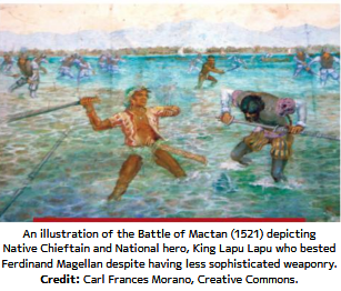 An illustration of the Battle of Mactan (1521)