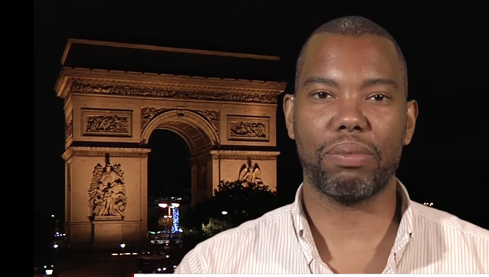 Ta-Nehisi Coates being interviewed