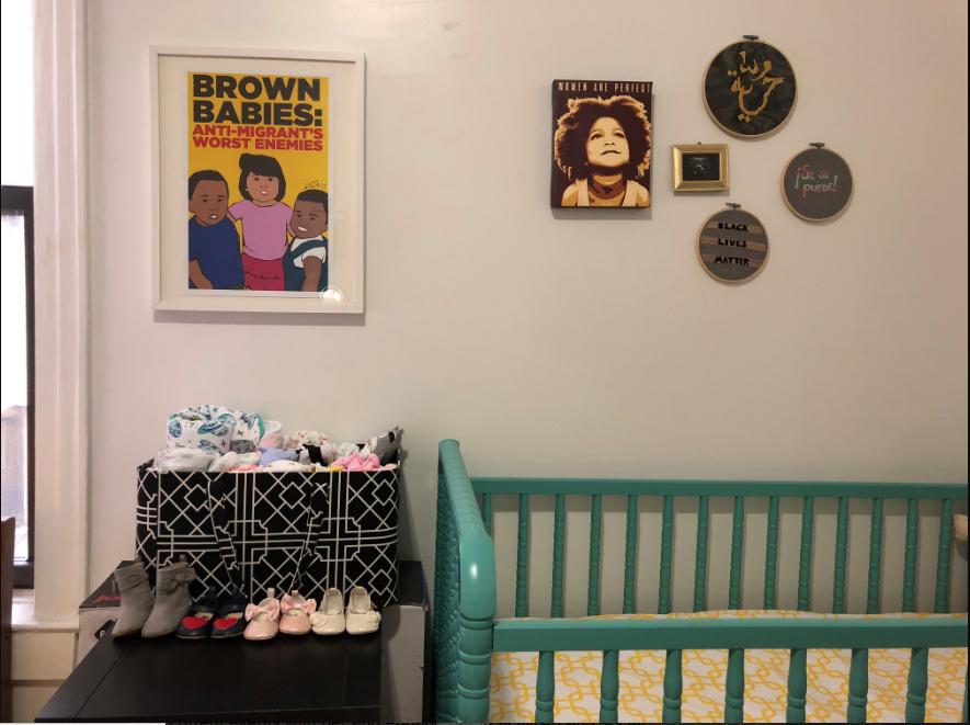 Social justice wall in Patricia's nursery