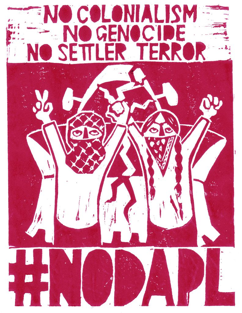 No DAPL red screen print