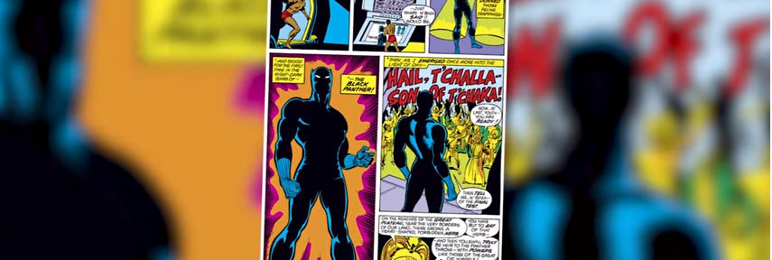 Page from the Black Panther comic books