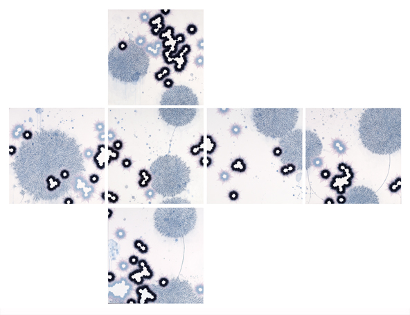 Print of microscopic image of atoms