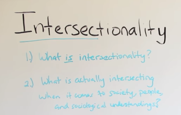 intersectionality written on white board