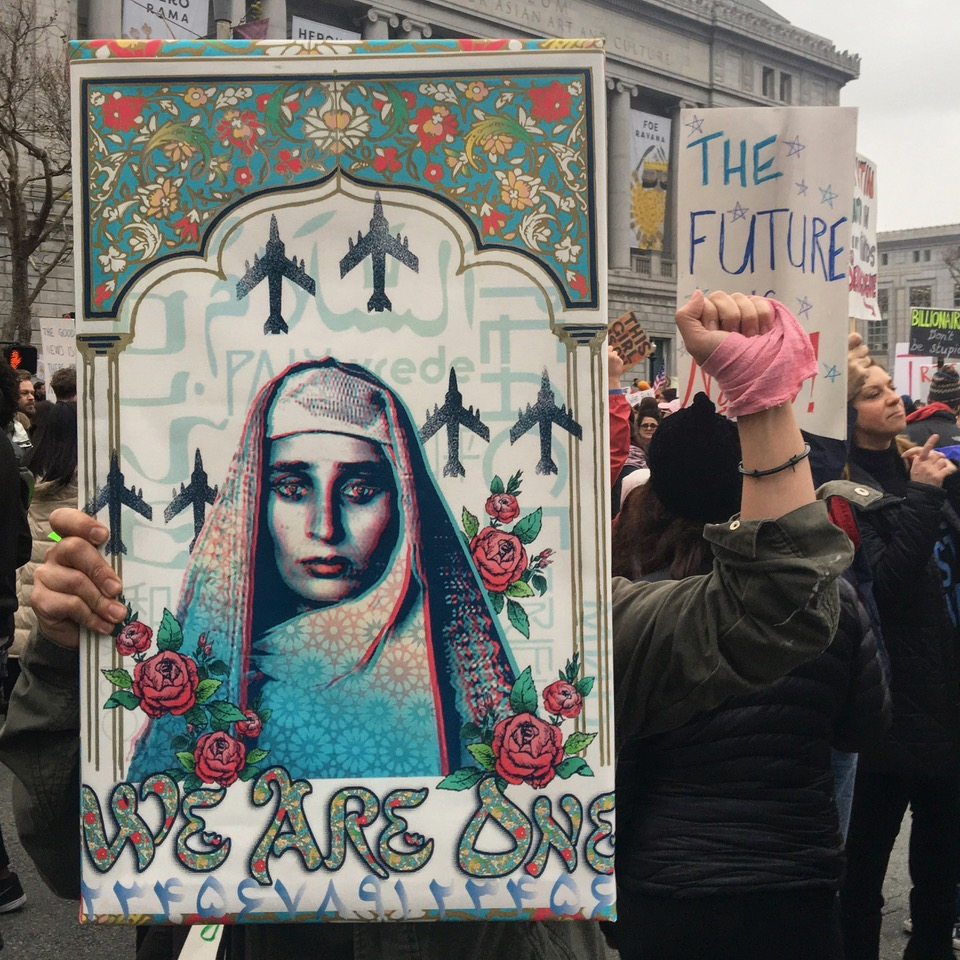 Poster at Women's March