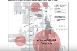 Map of Chicago that maps relationship between geography and racial segregation
