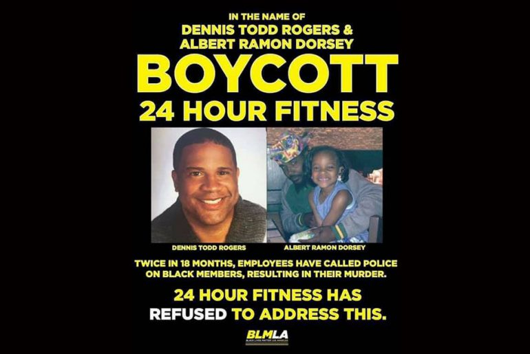 flyer calling for boycott of 24 hour fitness