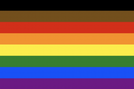 A photo of the Philadelphia Pride Flag.