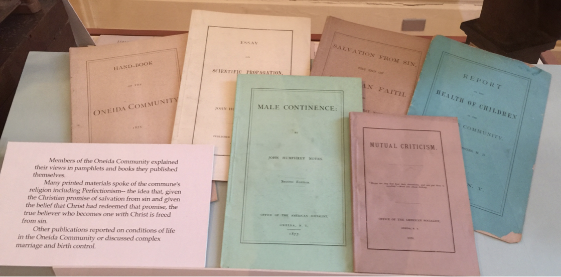 The publications of John Humphrey Noyes, Manson House, Oneida Community, Upstate New York.