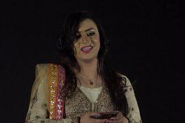 Jannat Ali speaking at a Ted Talk