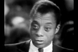 headshot of James Baldwin, Cambridge University, 1965