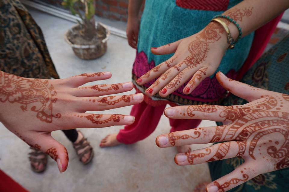 Hands with henna designs