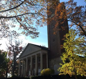Stetson Chapel in fall