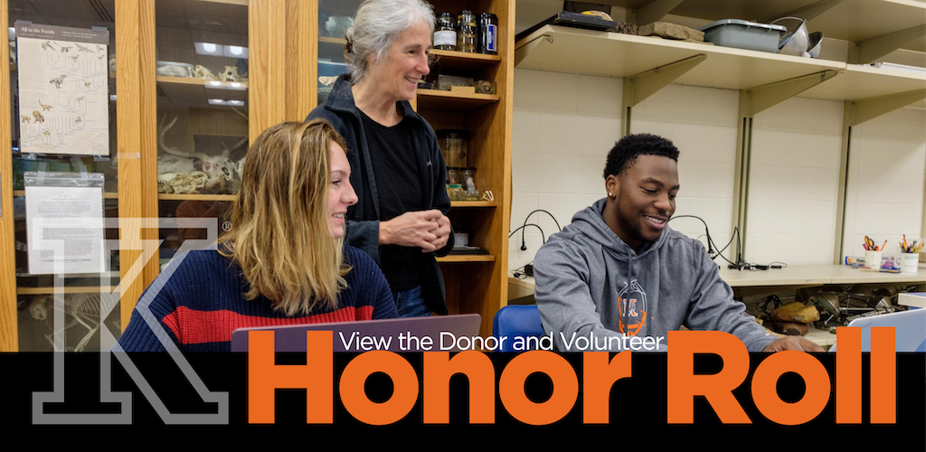 View the Donor and Volunteer Honor Roll