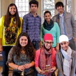 Kalamazoo College students (top row, l-r) Swapna Gudipati '13, Utsav Adhikari '14 Faiza Fayyaz '13, Karan Kapoor '14 (bottom row), Kinza Tareen '13, Jyotika Singh '13, Sukhvir Kaur '13.