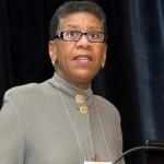 Eileen B. Wilson-Oyelaran speaking