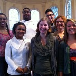 students in the chapel