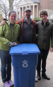 Kalamazoo College representatives participate in Recyclemaniacs