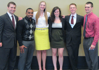 Six students presented research work at the annual ASBMB meeting