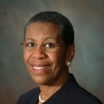 Portrait of then-Kalamazoo College President Eileen Wilson-Oyelaran