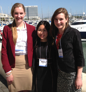 Three female students who presented at the 2014 Experimental Biology Meeting